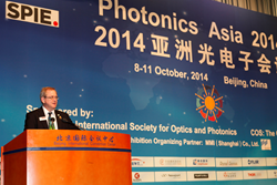 SPIE President Philip Stahl was among speakers during the opening ceremonies of SPIE/COS Photonics Asia 2014 in Beijing.
