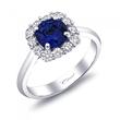 Coast Diamond Sapphire Halo Engagement Ring