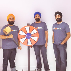 talklocal founders (left to right) Gurpreet Singh, Manpreet Singh, Amandeep Bakshi