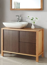 "Malaysia Red Oak and Walnut 39"" Bathroom Vanity WB-14168B from Legion Furniture"