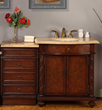 "Traditional Dark Brown 52"" Bathroom Vanity jyp-0193-tl-52 from Silkroad Exclusive"
