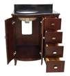 Mahogany Modern Bathroom Vanity VAN067-T from Hardware Resources