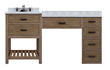 "Toby 60"" Modular Bathroom Vanity With Makeup Station and Drawers TB6021D1-M from Sagehill Designs"