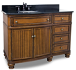 "Compton 48"" Walnut Single Vanity VAN029-48-T from Hardware Resources"
