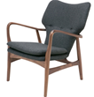 Nuevo Living Patrik Lounge Chair in American Ash Painted Walnut HGEM554