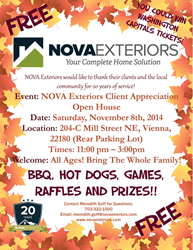 Nova Exteriors - 20 Year Anniversary Customer Appreciation Event