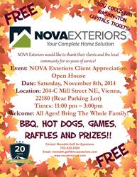 Nova Exteriors - 20 Year Anniversary Customer Appreciation Event