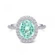 Coast Diamond Pariaba Color Tourmaline Halo Engagement Ring
