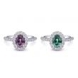 Coast Diamond Alexandrite Halo Engagement Rings