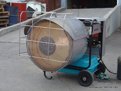 OWR-150 Portable Radiant Waste Oil Heater