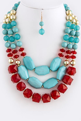 Designer Inspired Fashion Necklace Set