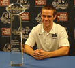 Taylor Heinicke with the CFPA Trophy