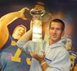Pat Devlin lifts the CFPA Trophy