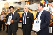 Dip-Tech CEO present Guinness Certificates on Printed Glass to TNG and sedak