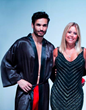 "Adriana Viano of UnderCover MensWear on the ""Getting to Zero"" Fashion Show runway with Wilhelmina model Tosh Yanez"