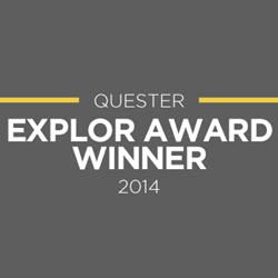 Quester wins the 2014 EXPLOR Award at the TMRE in Boca Raton