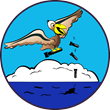 This is the logo for CAP's Coastal Patrol Base 9, which was established on June 25, 1942, at Grand Isle, Louisiana. Modern artwork courtesy of Capt. Erik Koglin.