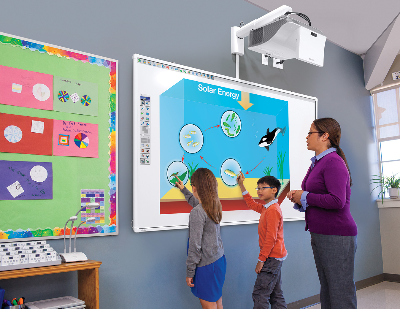 Collaborative Teaching In Classroom ~ New interactive mimioboard touch board enhances classroom