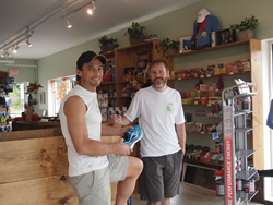 Photo of store manager and owner