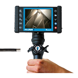 iRis DVR XA Video Borescope with side view prism adapter