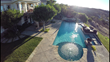 Aerial drone still shotSwimming pool and spa shot with Go Pro