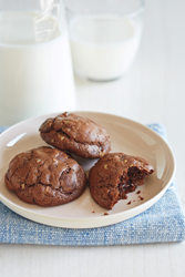 Chocolate Refrigerator Cookies are quick to make.
