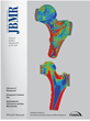 Study image is featured on the cover of the Journal of Bone Mineral Research. Red areas of the bone are stiffer and blue areas are less stiff.