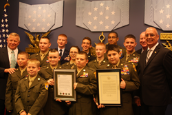 The Young Marines youth organization's Drug Demand Reduction Program is the winner of the 2014 Annual Fulcrum Shield Award for Excellence in Youth Anti-Drug Education.