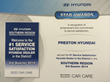 Preston Hyundai Service Department Earns Star Award