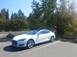 First Model S to charge up in Tahoe City at Tesla charging station at 319 West Lake Boulevard.