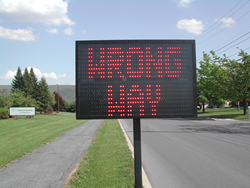 Wrong Way LED Message Sign Image
