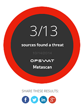 Sample results from Metascan Online's new IP scanning feature.