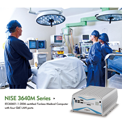 NISE 3640 Certified Medical Fanless Computer