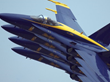 An sample of the precision flying tactics used by the Navy's Blue Angels
