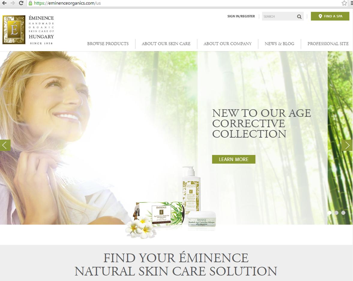 Eminence facial offical website