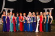 All the contestants from the Ms. Senior California pageant pose with Dr. Gayla Kalp Jackson, Ms. Senior California 2014