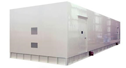 DCR small stand-alone buildings can ship integrated with the necessary technical infrastructure to support up to up to 200kW of load at an N+1 level of redundancy.