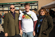 Village of Ossining Mayor William Hanauer; Bradley Morrison, Downtown Events Committee member and Director of Cultural Arts at the Ossining School District; and children's illustrator Rose Mary Berlin