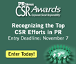 PR News' CSR Awards – Entry Deadline is This Week