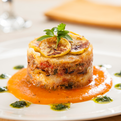 Duck & Sweet Plantain Lasagna Pastelon