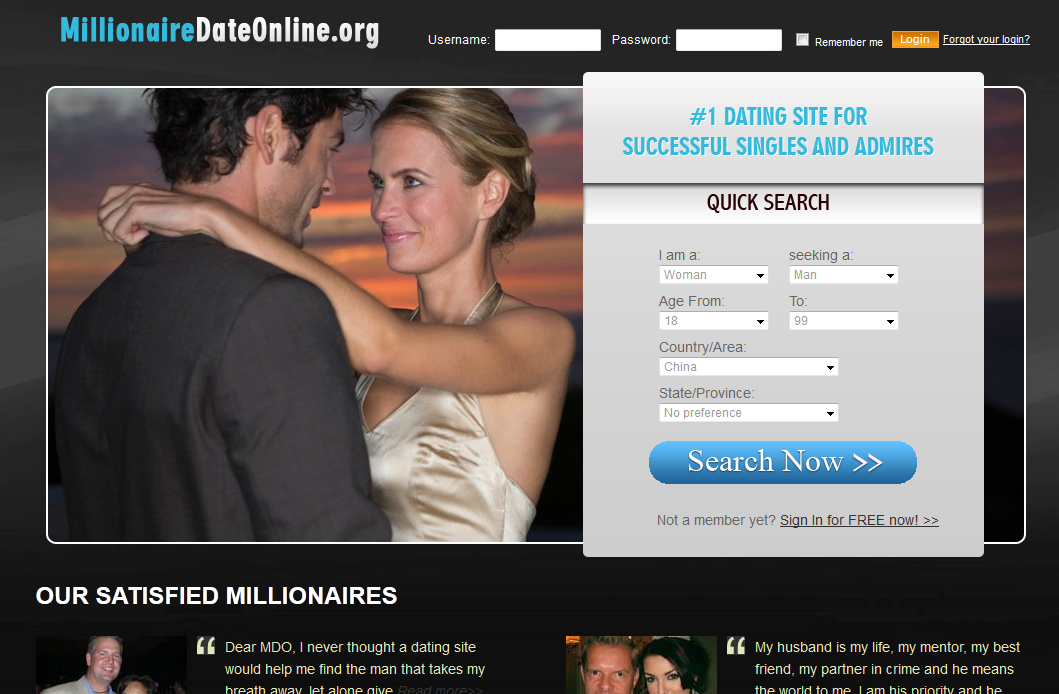 Dating a millionaire uk