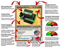 Anatomy of the new Virtuabotix card label
