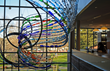 Journey of a Bottle (2011), a Marta Thoma Hall sculpture at the Walnut Creek Public Library