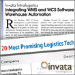 Invata Intralogistics Included in 20 Most Promising Logistics Tech...