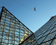 Slackliner Takes Sport to New Heights Crossing Tennessee Aquarium...