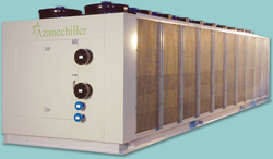 Azane's low charge, air-cooled ammonia packaged Azanechiller