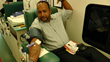 Uniweld's Customer Service Manager donating to OneBlood.