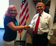Kindness Ambassador Aleah Elmer with Escondido Mayor Sam Abed
