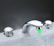 Sumerain S1135CL LED Thermal Waterfall Bathroom Sink Faucet Polished Chrome