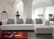 Tosh Furniture Modern White Sectional Sofa Set TOS-LF-2235